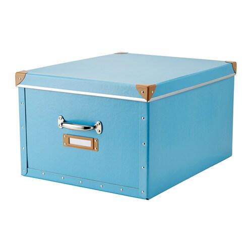 Fj lla caja con tapa azul ikea - Cajas de ikea ...