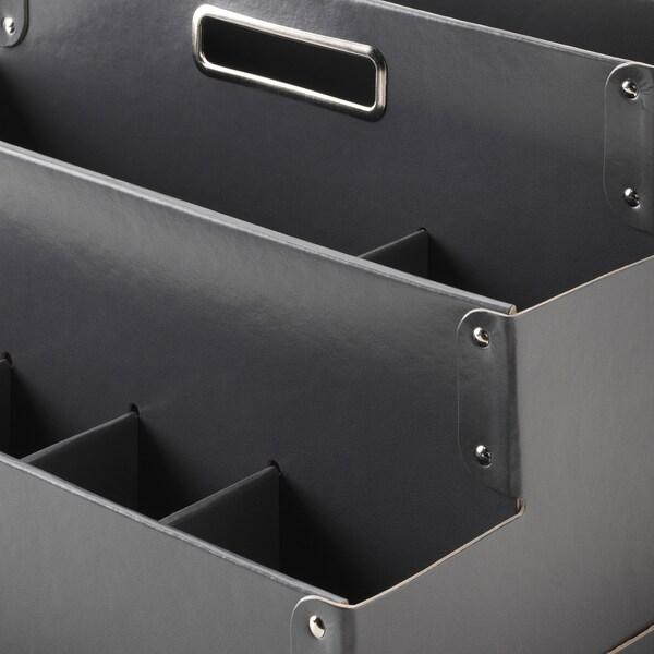 FJÄLLA Organizador escritorio, gris oscuro, 35x21 cm IKEA