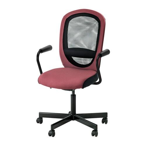 Flintan nominell silla giratoria con reposabrazos rosa oscuro ikea - Sillas con reposabrazos ikea ...