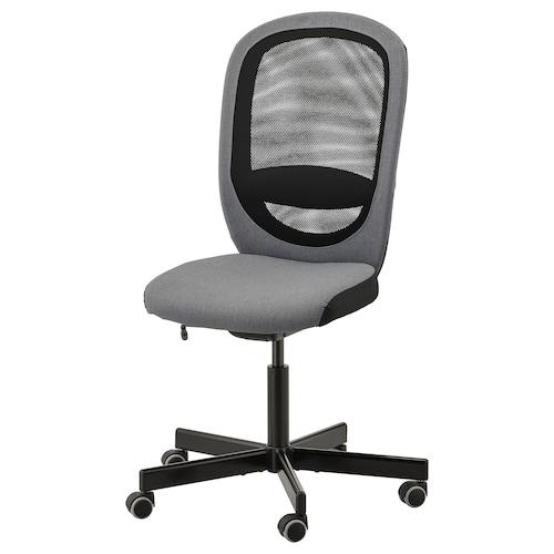 FLINTAN silla de trabajo Vissle gris 110 kg 74 cm 69 cm 102 cm 114 cm 47 cm 48 cm 47 cm 60 cm