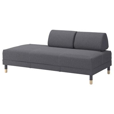 FLOTTEBO Sofá cama, Gunnared gris, 90 cm