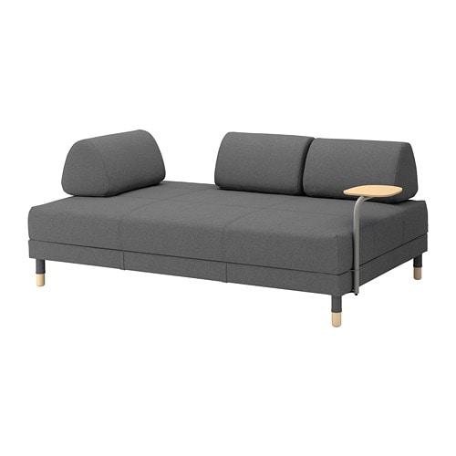 Flottebo sof cama mesa auxiliar lysed gris oscuro ikea for Sofa cama para dos personas