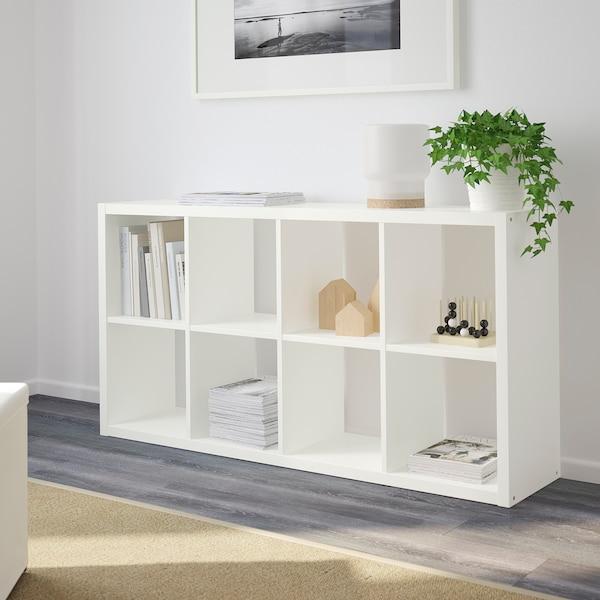 FLYSTA Estantería, blanco, 69x132 cm