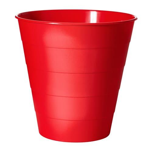 Fniss cubo de basura rojo ikea for Cubo basura extraible ikea