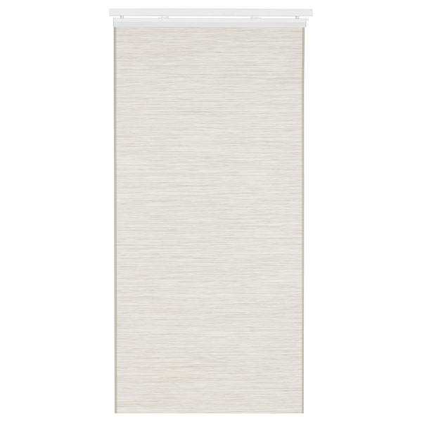 FÖNSTERVIVA Panel japonés, blanco/beige, 60x300 cm