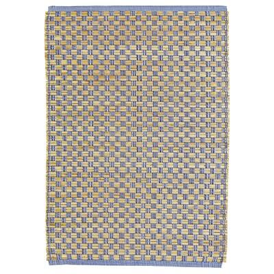 FÖRÄNDRING Alfombra, a mano/paja de arroz azul/natural, 60x90 cm