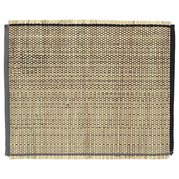 FÖRÄNDRING Mantel individual, a mano/paja de arroz negro/natural, 35x45 cm