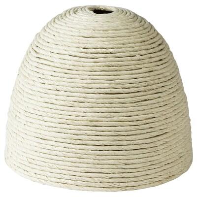 FÖRÄNDRING Pantalla para lámpara de techo, a mano/paja de arroz natural, 23 cm