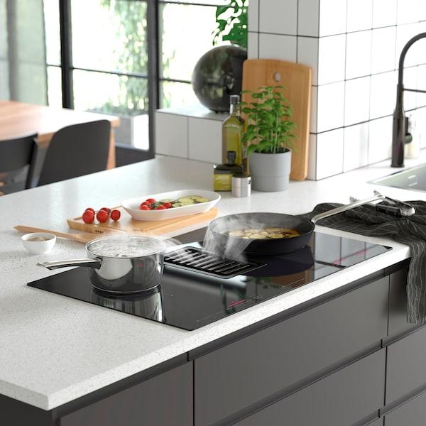 FÖRDELAKTIG Placa inducción+extractor integrado, IKEA 700 negro, 83 cm