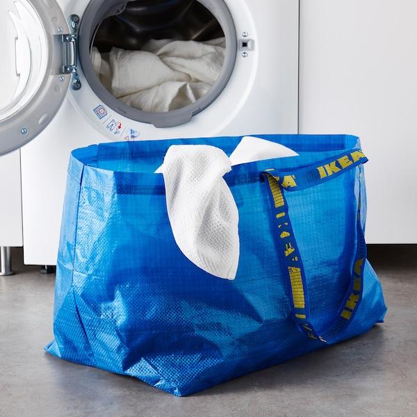 FRAKTA Bolsa, grande, azul IKEA