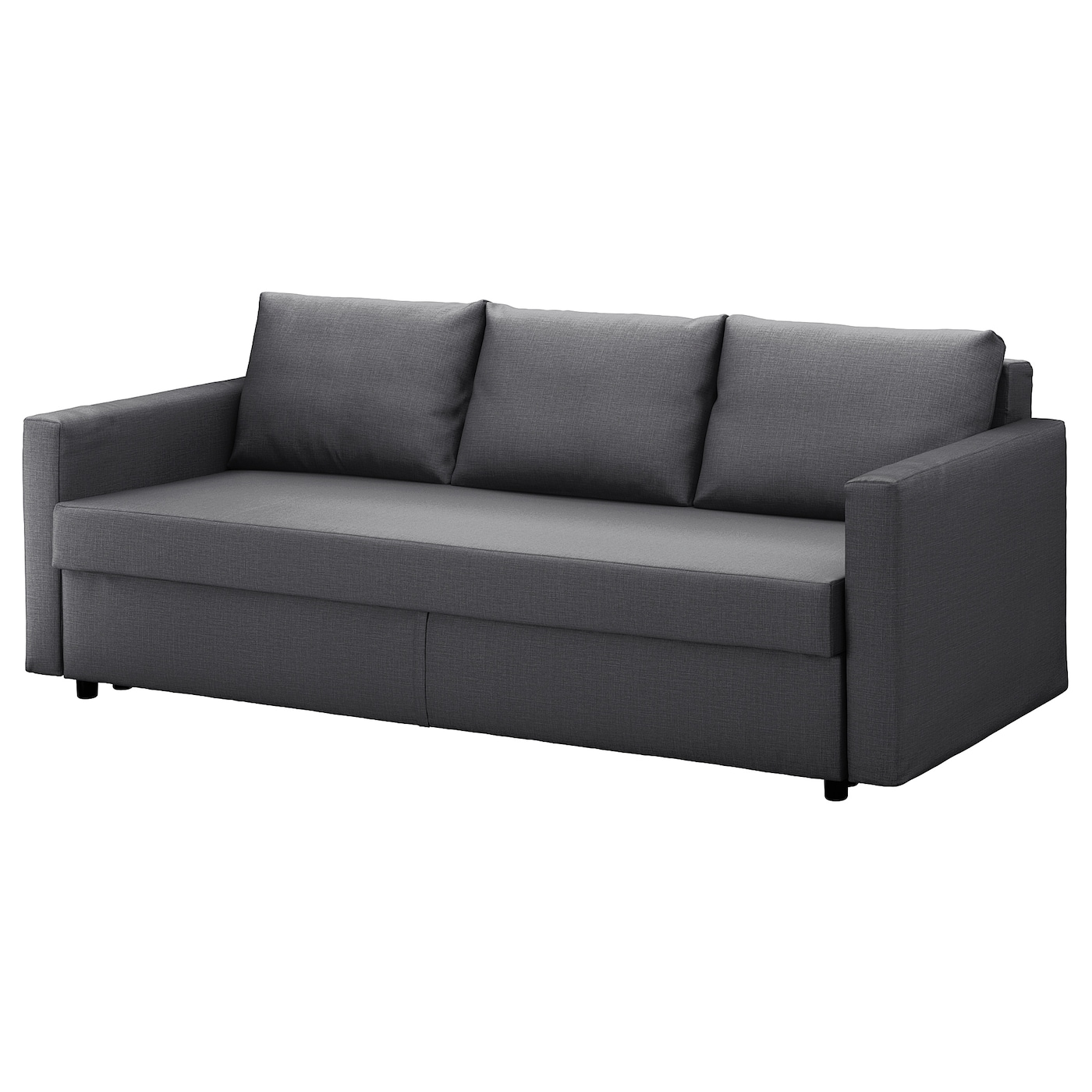 FRIHETEN Sofá cama 3 plazas Skiftebo gris oscuro