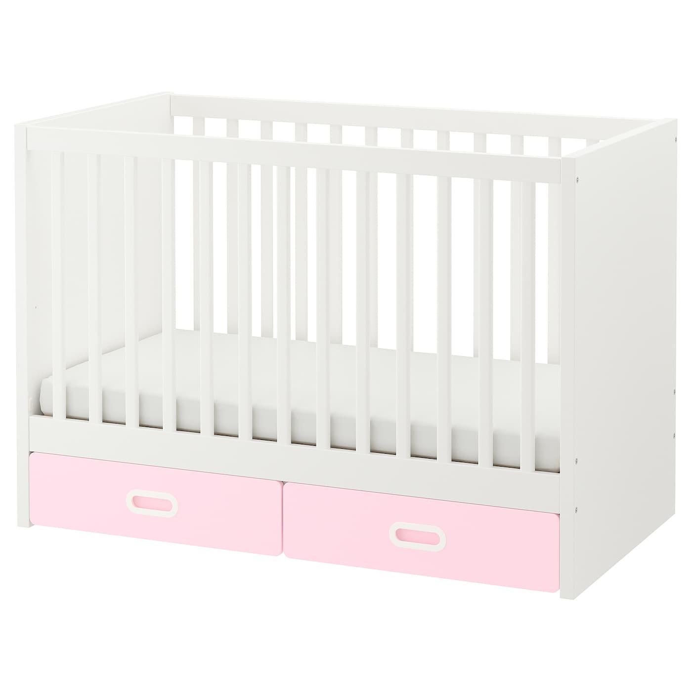 Fritids stuva cuna cajones rosa claro 60 x 120 cm ikea - Ikea muebles bebe ...