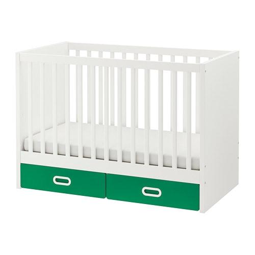 FRITIDS/STUVA Cuna+cajones Verde 60 x 120 cm - IKEA