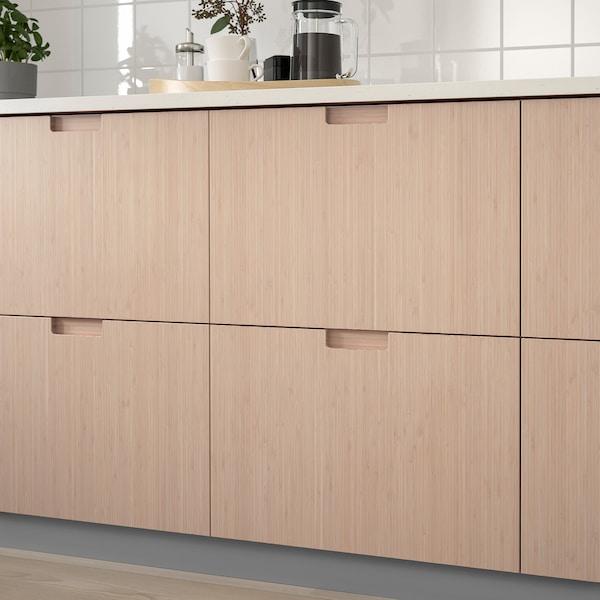 FRÖJERED Frente de cajón, bambú claro, 80x20 cm