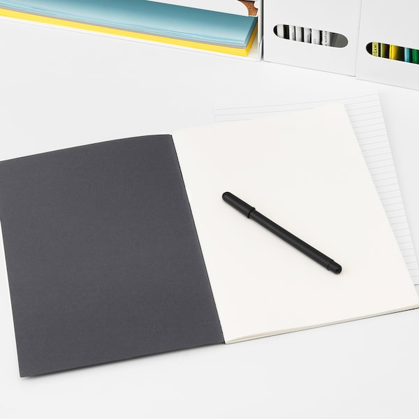 FULLFÖLJA cuaderno negro 40 piezas 26.0 cm 18.0 cm 0.5 cm 80 g/m²