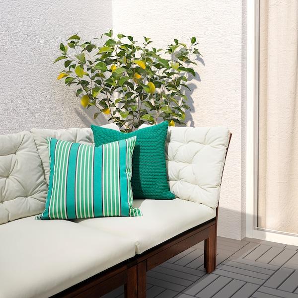 FUNKÖN Funda cojín int/ext, turquesa/verde, 50x50 cm
