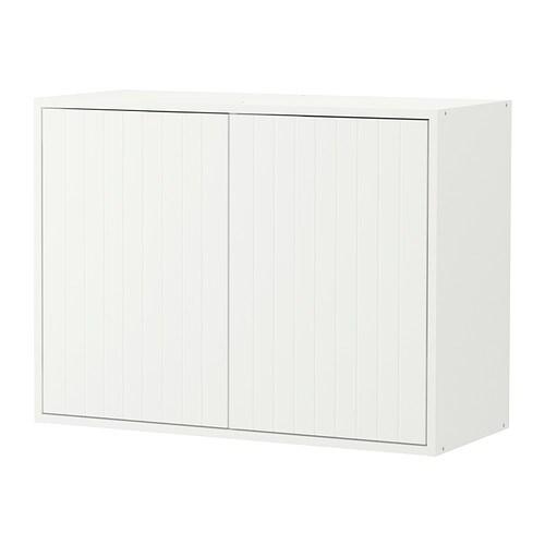 Fyndig armario de pared con puertas blanco con dise o ikea - Ikea diseno armario ...