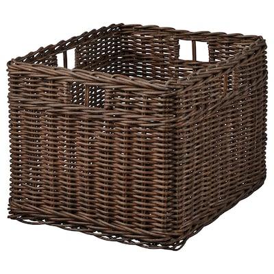 GABBIG Cesta, marrón oscuro, 29x38x25 cm