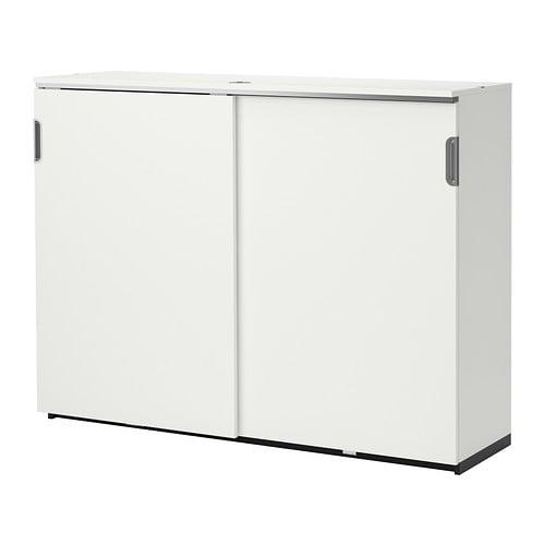 Galant armario con puertas correderas blanco ikea for Sistema puertas correderas ikea