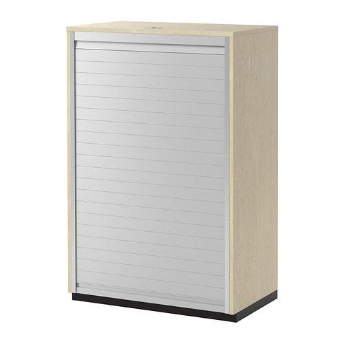Galant armario de puerta persiana chapa abedul ikea for Armarios de oficina ikea