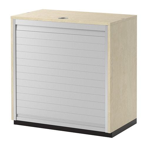 Galant armario de puerta persiana chapa abedul ikea - Puertas para armarios ikea ...