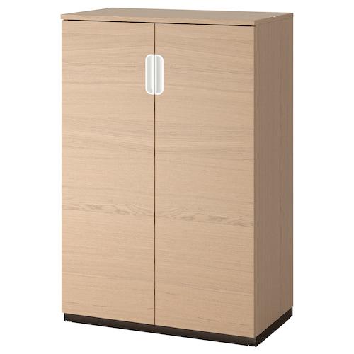 GALANT armario con puertas chapa roble tinte blanco 80 cm 45 cm 120 cm 30 kg