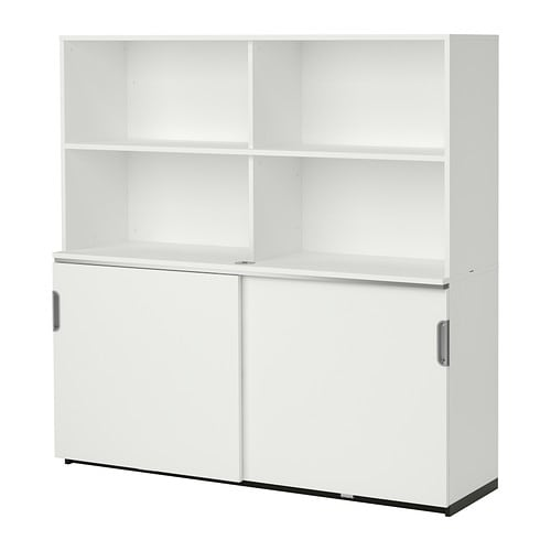 Galant combi almacenaje puertas correderas blanco ikea for Ikea puertas correderas