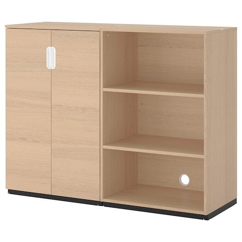 GALANT Combinación de armario y estantería chapa roble tinte blanco 160 cm 45 cm 120 cm 30 kg