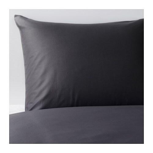 G spa funda n rd y 2 fundas almohada 240x220 50x60 cm ikea for Ikea funda nordica gris