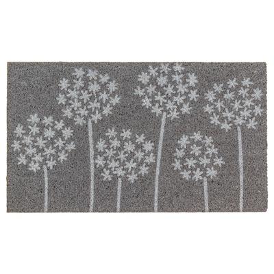 GIMMING Felpudo, gris/blanco, 40x70 cm