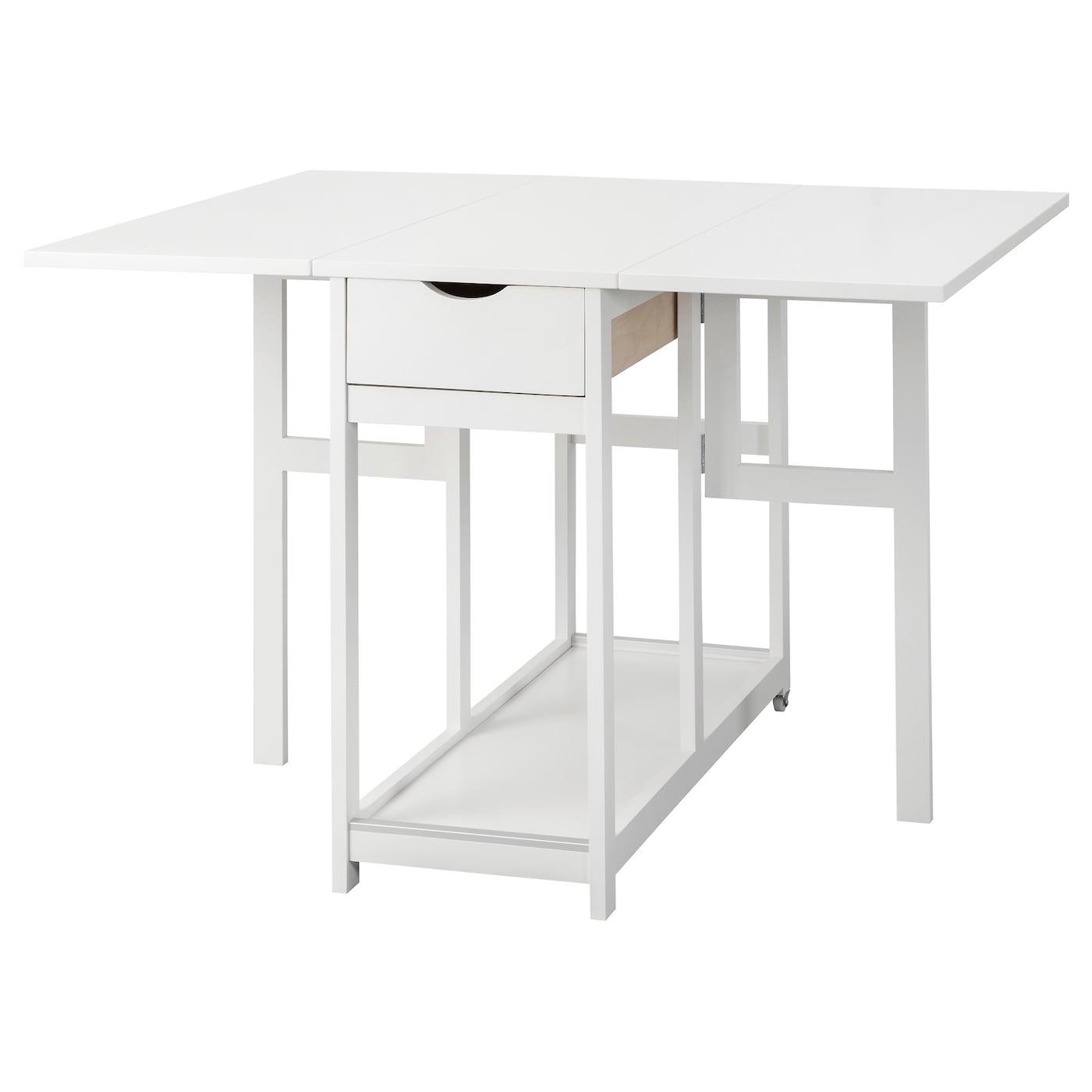 Gisslaboda mesa de hojas abatibles blanco 38 77 116 x 95 - Ikea mesa blanca ...