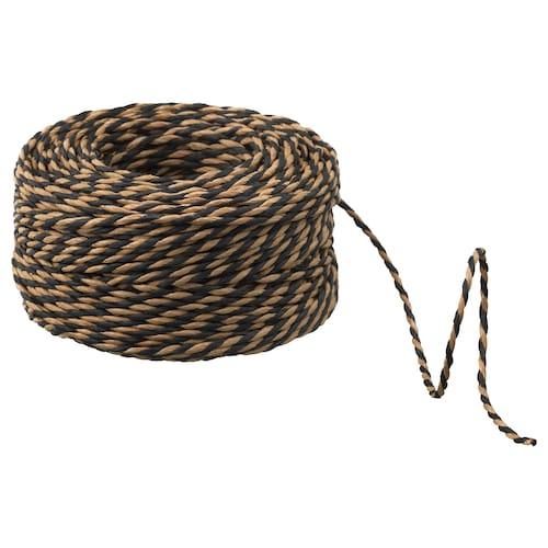 GIVANDE cinta para lazo de regalo negro/beige 40 m 40 m