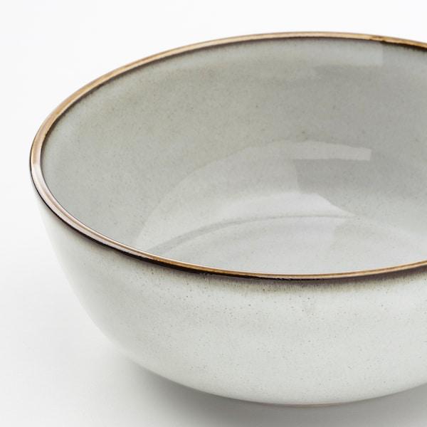 GLADELIG Cuenco, gris, 14 cm