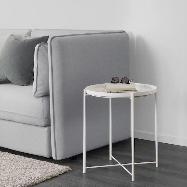 GLADOM Mesa/bandeja, blanco, 45x53 cm