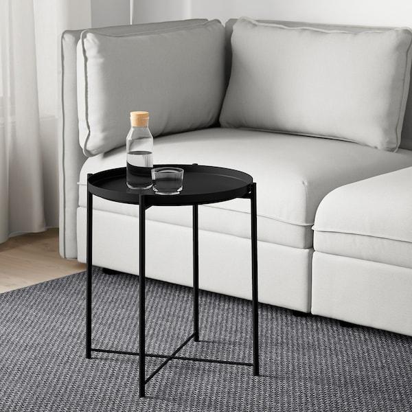 GLADOM Mesa/bandeja, negro, 45x53 cm