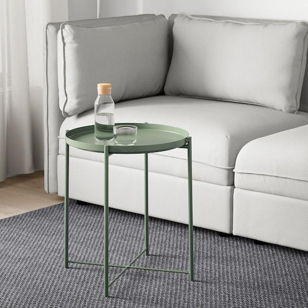 GLADOM mesa/bandeja verde oscuro 53 cm 45 cm