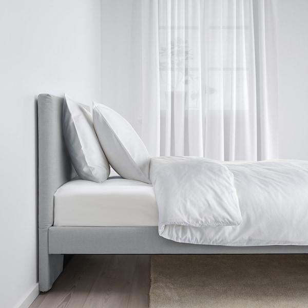 GLADSTAD Estructura cama tapizada, Kabusa gris claro, 90x200 cm