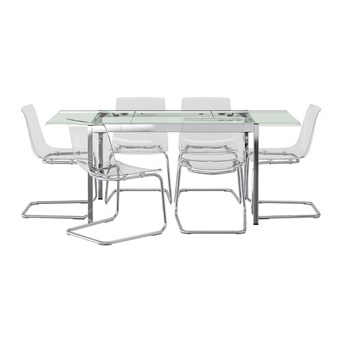 Glivarp tobias mesa y 6 sillas ikea - Mesa transparente ikea ...