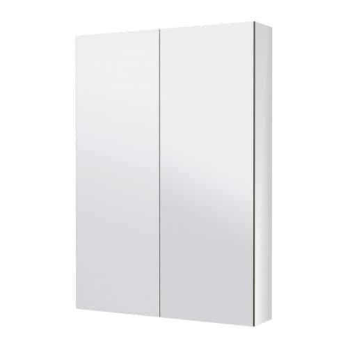 Godmorgon armario espejo 2 puertas 80x14x96 cm ikea for Puertas armarios ikea