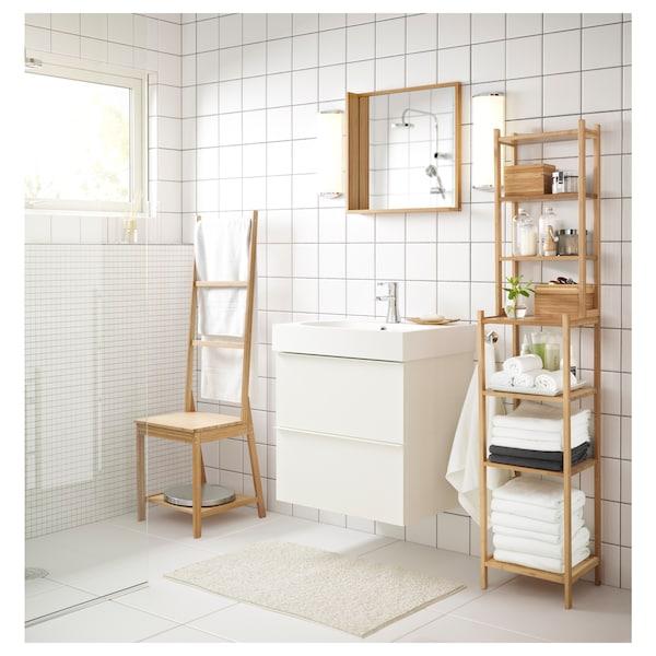 GODMORGON Armario lavabo 2 cajones, alto brillo blanco, 60x47x58 cm
