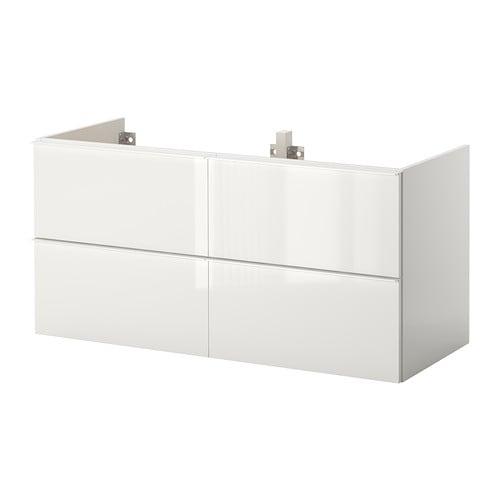 Godmorgon armario lavabo 4cajones alto brillo blanco ikea - Armario lavabo ikea ...