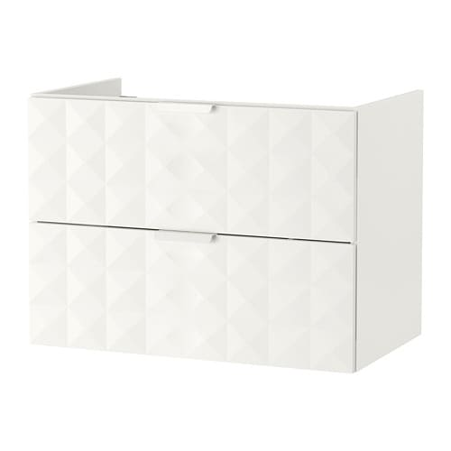 Godmorgon armario lavabo 2 cajones resj n blanco - Armario lavabo ikea ...