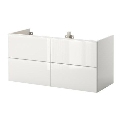 Godmorgon armario lavabo 4cajones alto brillo blanco ikea - Godmorgon ikea mobile alto ...