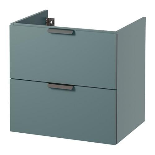 Adesivo Moveis Mdf ~ GODMORGON Armario lavabo 2 cajones gris turquesa, 60x47x58 cm IKEA