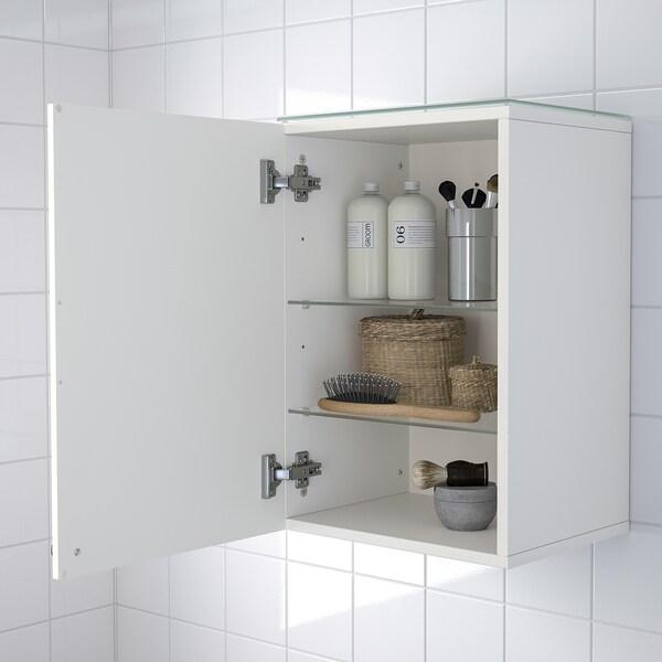 GODMORGON Armario pared&1 puerta, Kasjön blanco, 40x32x58 cm