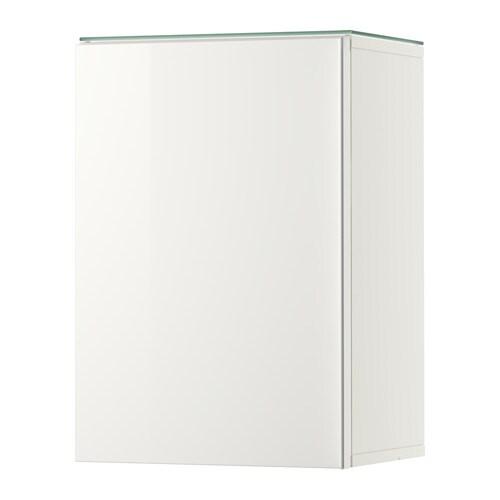 Aparador Nordico Roble ~ GODMORGON Armario pared&1 puerta alto brillo blanco IKEA