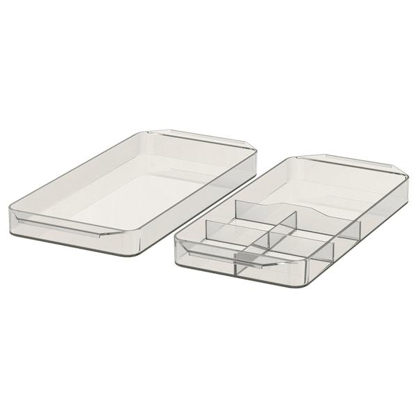 GODMORGON Bandeja c/compartimentos, j 2, ahumado