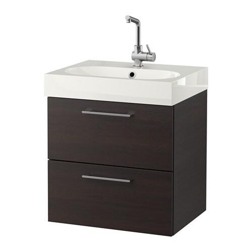 Godmorgon br viken armario lavabo 2 cajones negro - Armario lavabo ikea ...