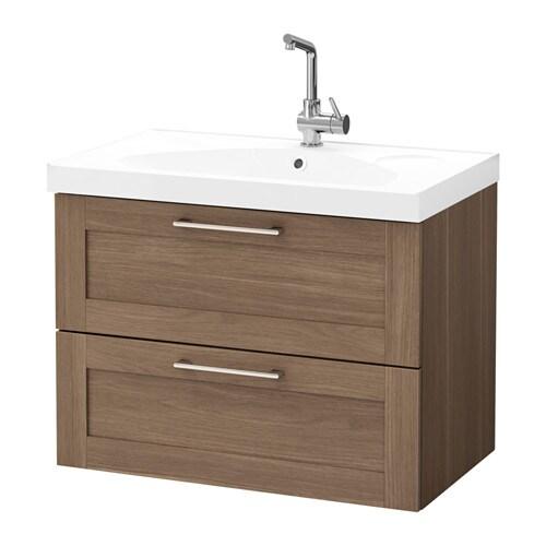 Godmorgon edeboviken armario lavabo 2 cajones efecto - Armario lavabo ikea ...