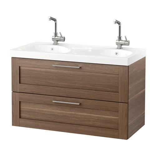 Godmorgon edeboviken armario lavabo 2 cajones nogal ikea - Cajones armario ikea ...